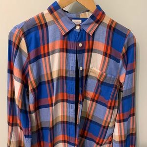 J Crew factory soft flannel plaid shirt